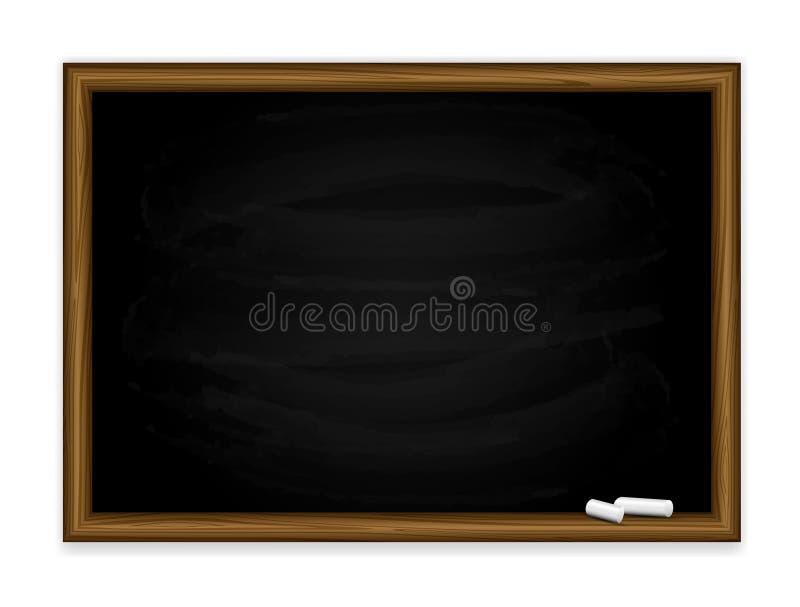 黑色黑板 库存例证