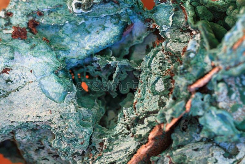 绿色绿沸铜矿物 免版税库存图片