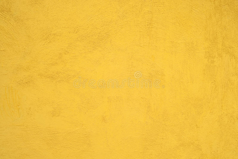黄色水泥墙壁 图库摄影