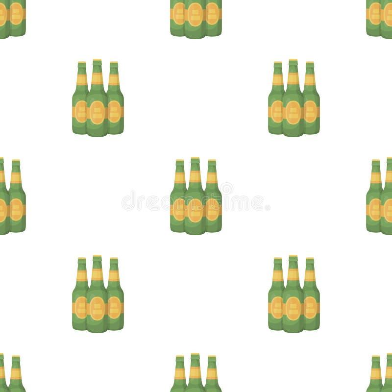 绿色玻璃啤酒瓶 酒精饮料客栈 客栈在动画片样式传染媒介标志股票例证的样式象 库存例证