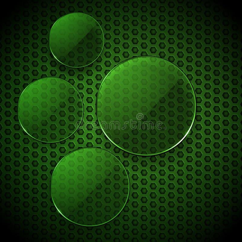 绿色玻璃盘旋信息图表空白 皇族释放例证