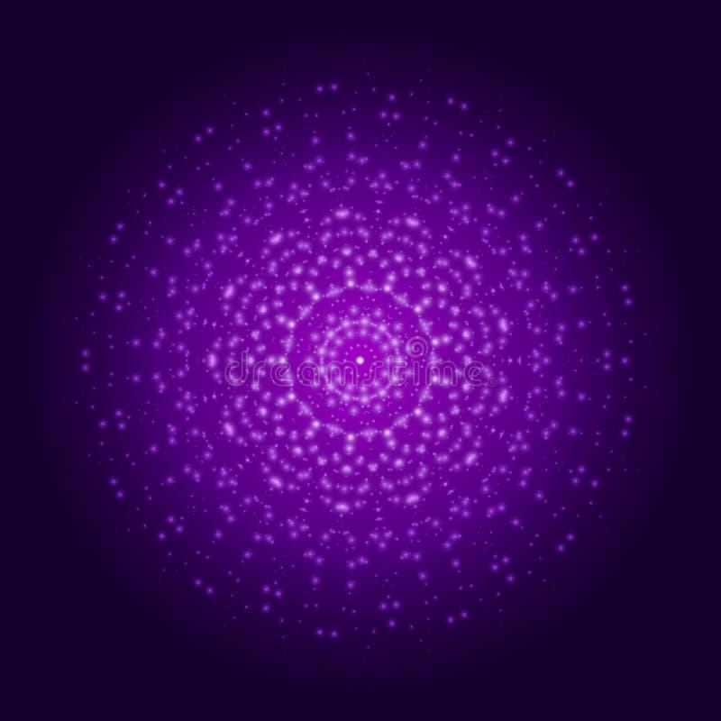 紫色轻的坛场 抽象装饰品向量 向量例证