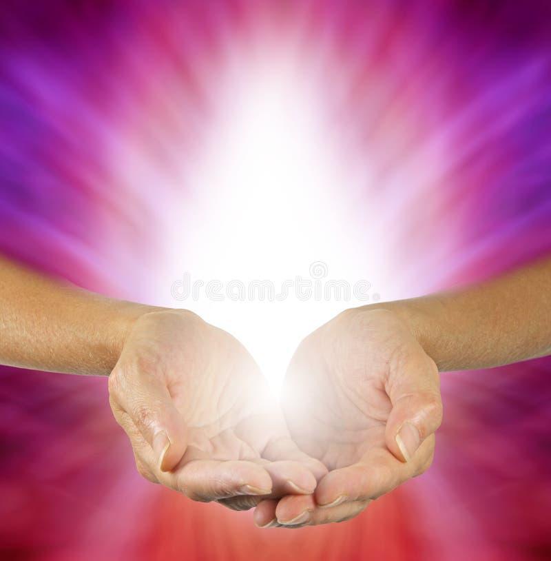 紫色洋红色医治用的能量 图库摄影