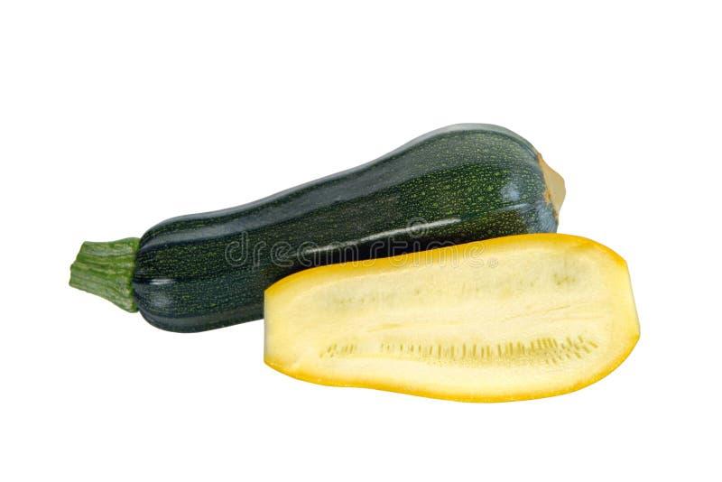 绿色黄色夏南瓜 免版税库存照片