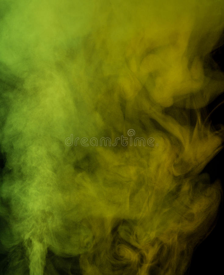 黄绿色水蒸气 库存照片