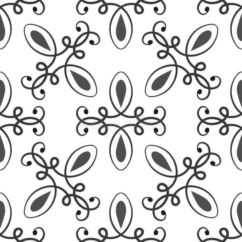 黑色仿造无缝的白色 库存例证