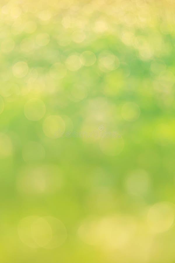 绿色bokeh摘要光 免版税库存图片