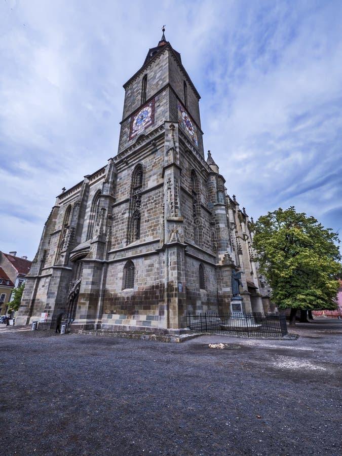 黑色brasov教会罗马尼亚 免版税图库摄影