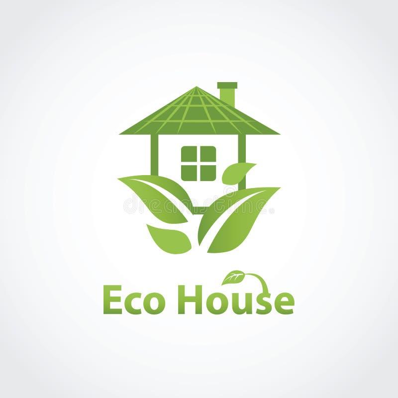 绿色eco房子 库存例证