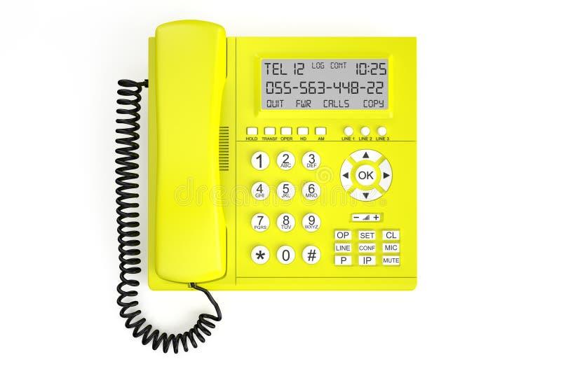 黄色IP电话 库存例证