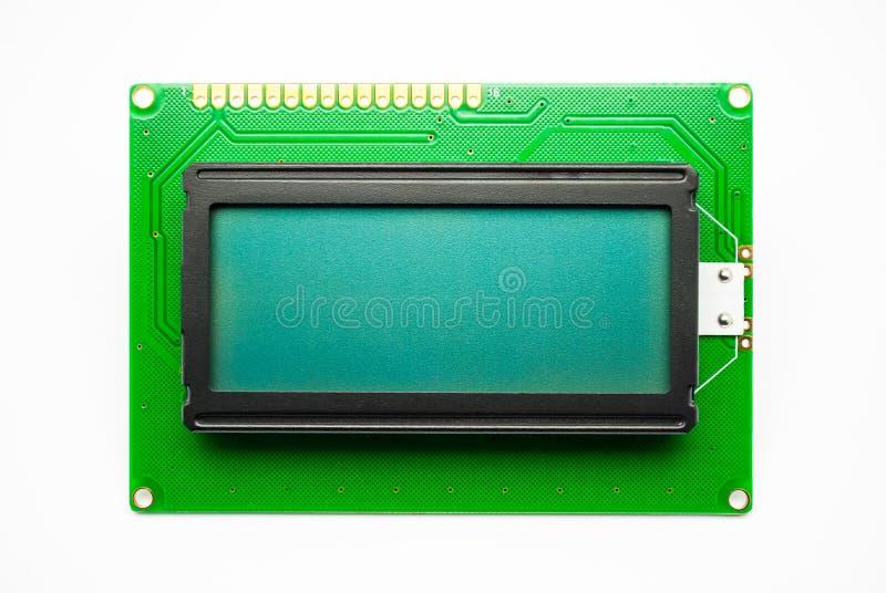 绿色LED字符显示器 库存图片