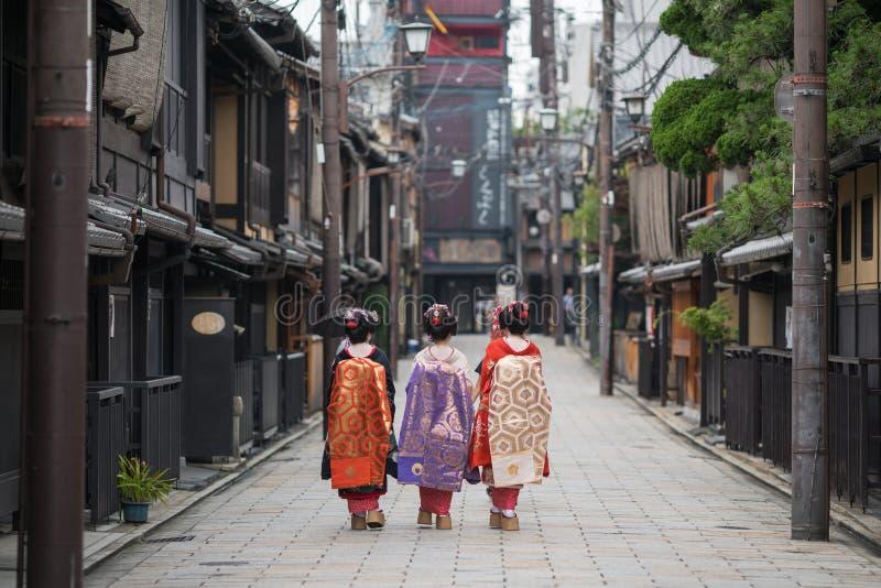 艺妓女孩在日本 图库摄影