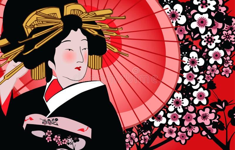 艺妓日语 向量例证