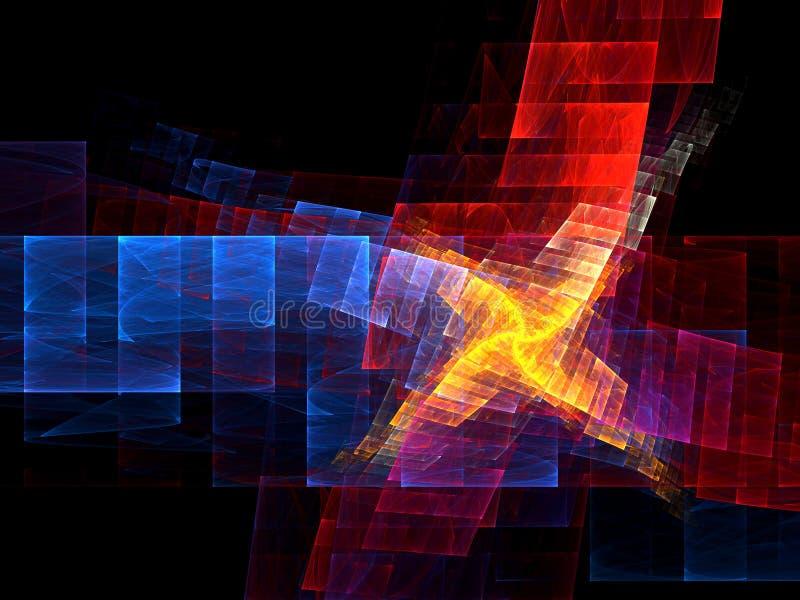 艺术上色分数维 向量例证
