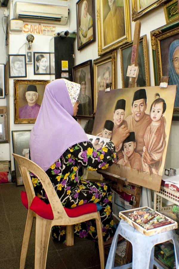 艺术中央吉隆坡马来西亚人市场 免版税库存图片
