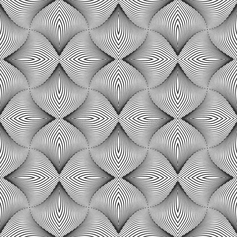 4 6艺术中的每一移动操作模式重复无缝的显示的瓦片 线路纹理 皇族释放例证