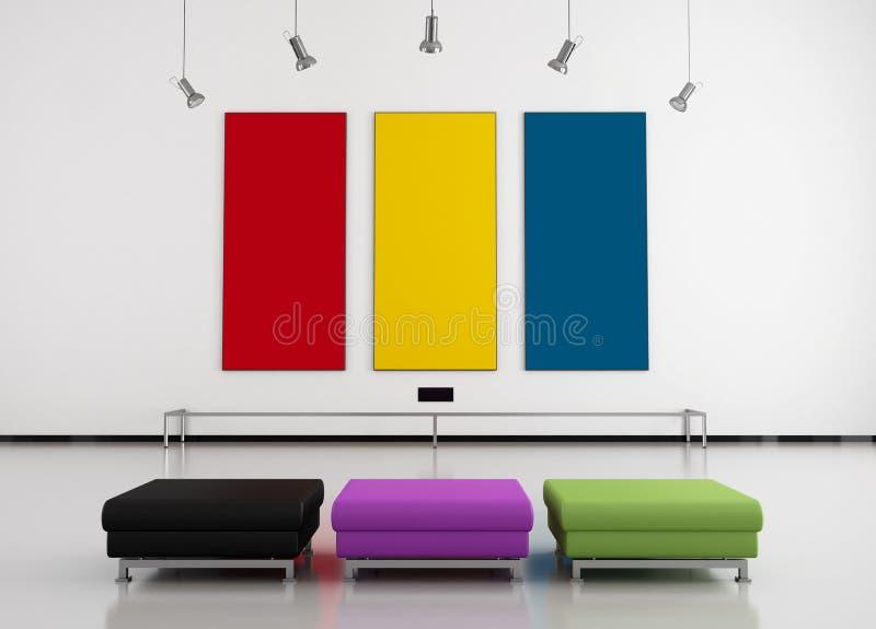 艺术五颜六色的画廊 库存例证