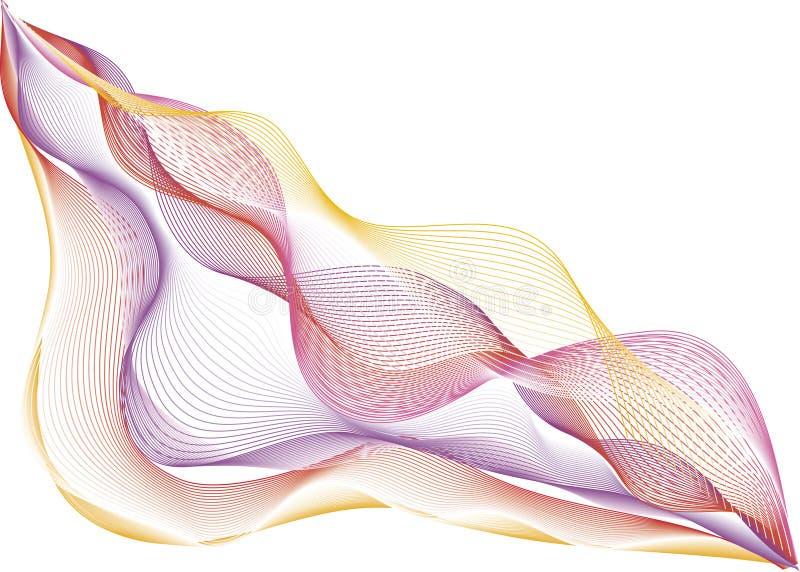 艺术五颜六色的线路 皇族释放例证