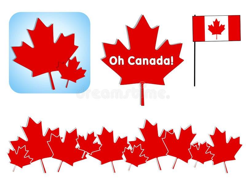 艺术加拿大夹子日哦 库存例证
