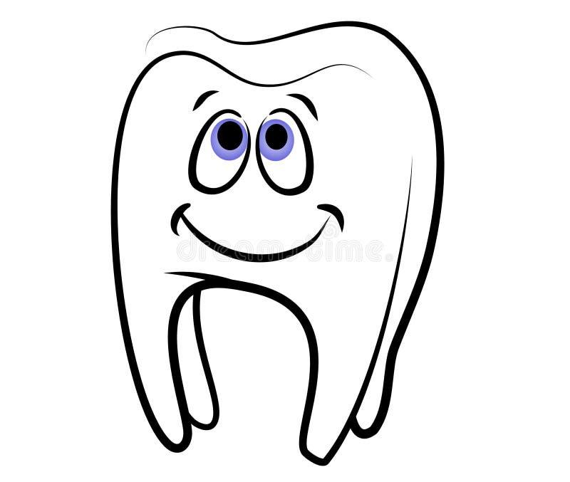 艺术动画片夹子牙齿牙 向量例证