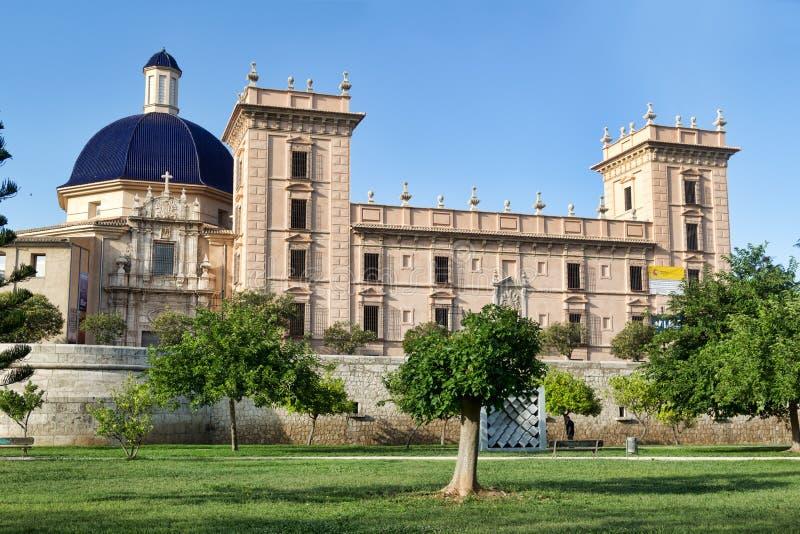 艺术博物馆在巴伦西亚 西班牙 免版税库存照片