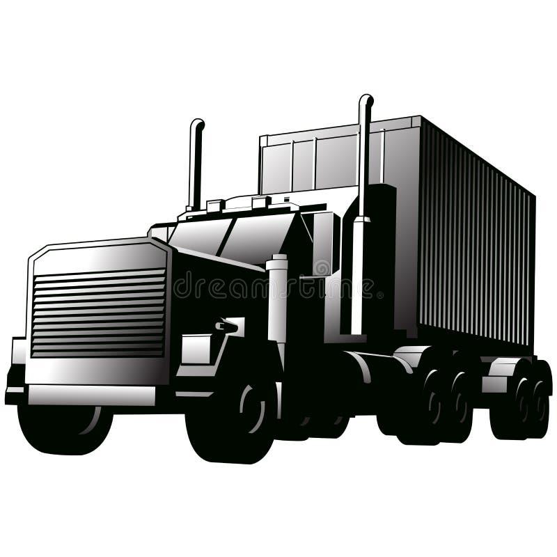 艺术卡车向量 库存例证