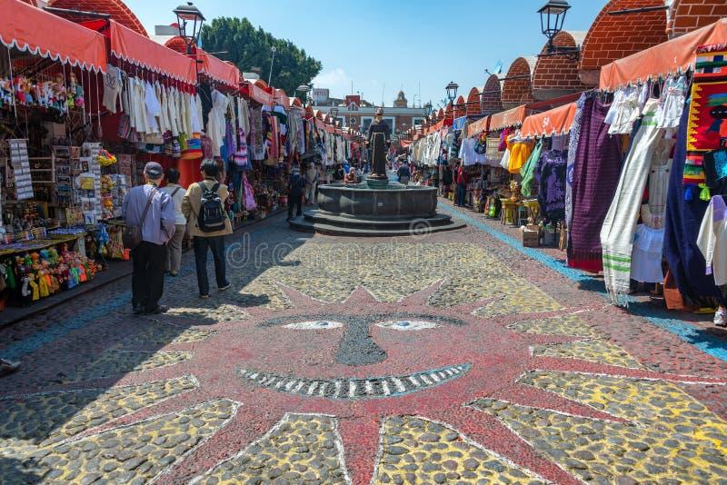 艺术和工艺在普埃布拉,墨西哥 免版税库存图片