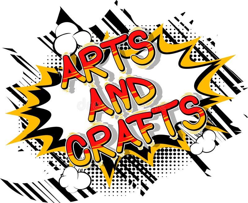 艺术和工艺-漫画书样式词组 向量例证