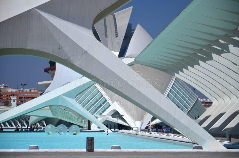 艺术和科学城市在巴伦西亚,西班牙 免版税库存照片