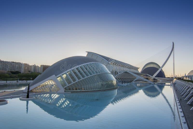 艺术和科学城市在巴伦西亚 免版税库存图片