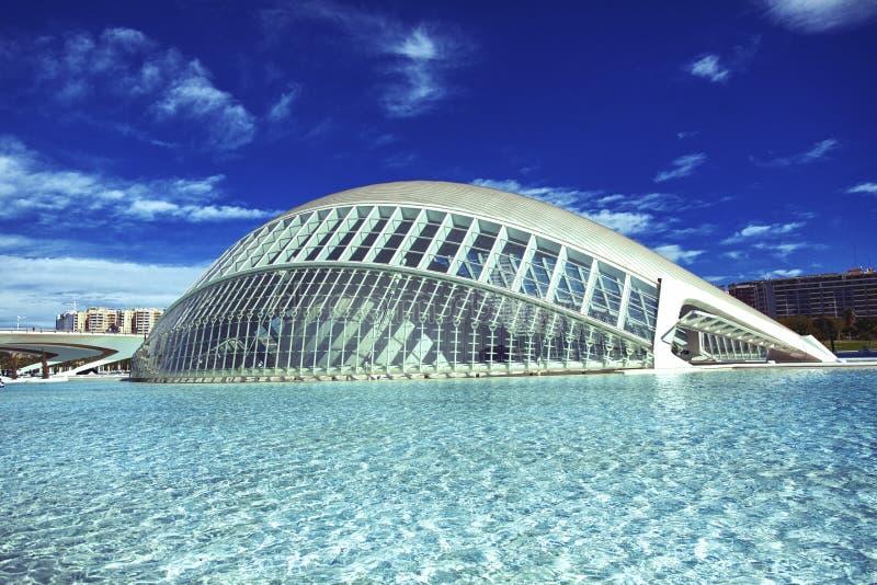 艺术和科学城市在巴伦西亚西班牙 免版税库存照片