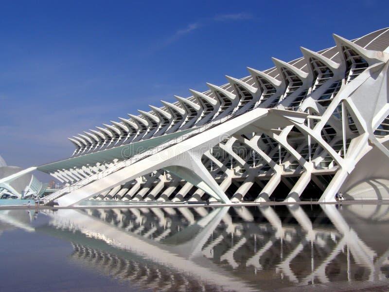 艺术和科学,巴伦西亚城市 库存图片
