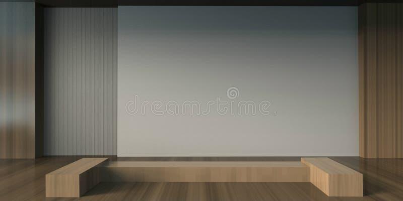 艺术和画廊最小的创造性的现代室 库存照片