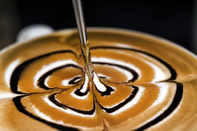 艺术咖啡latte 库存照片