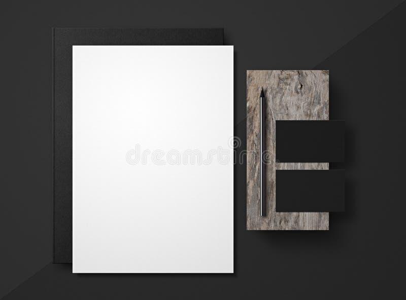 艺术品企业公司本体模板向量 烙记的假装  套在灰色背景的元素 向量例证