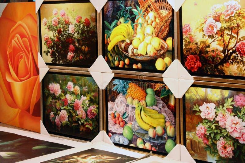 艺术品显示 免版税库存照片