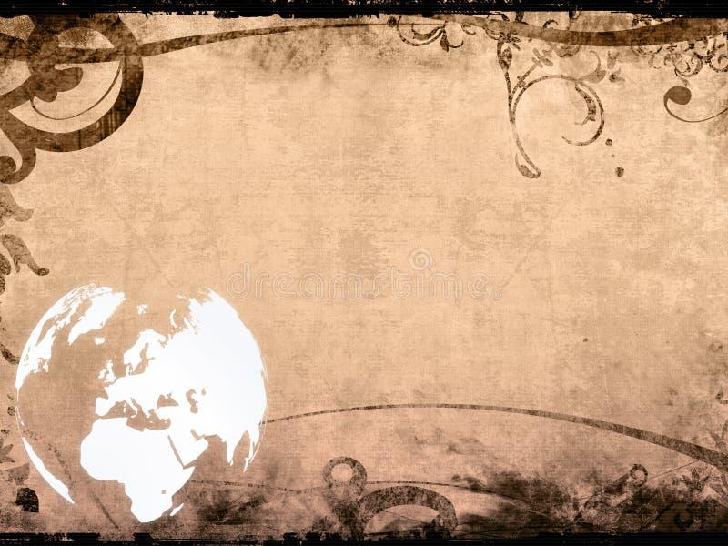 艺术品欧洲映射葡萄酒 皇族释放例证