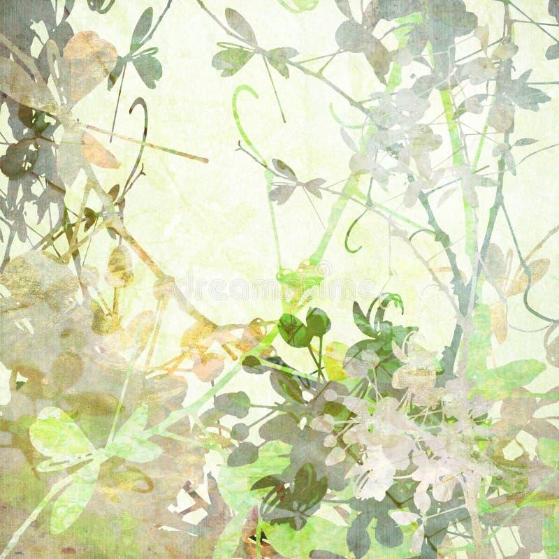 艺术品淡色的蝶粉花 向量例证