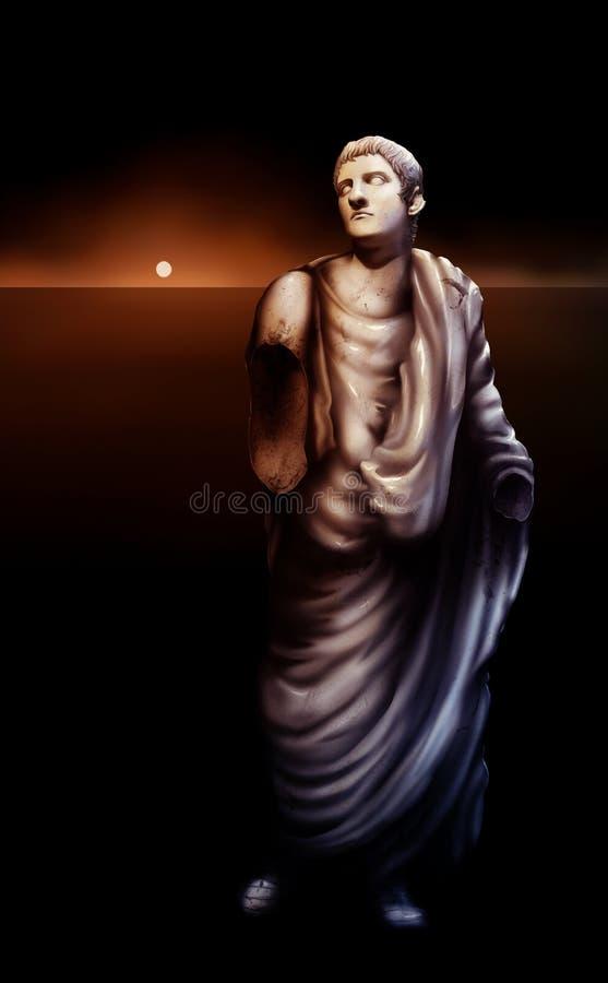 艺术品caligula皇帝罗马雕象 库存例证