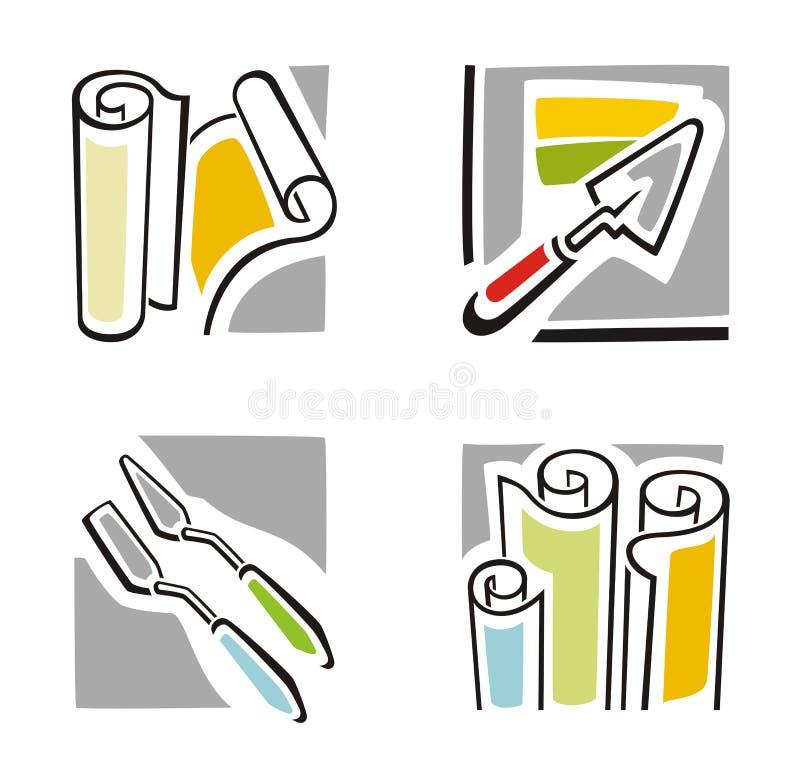 艺术图标系列 向量例证