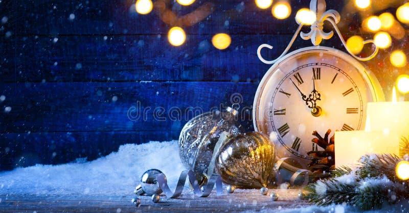 艺术圣诞节或除夕;假日背景 免版税库存照片