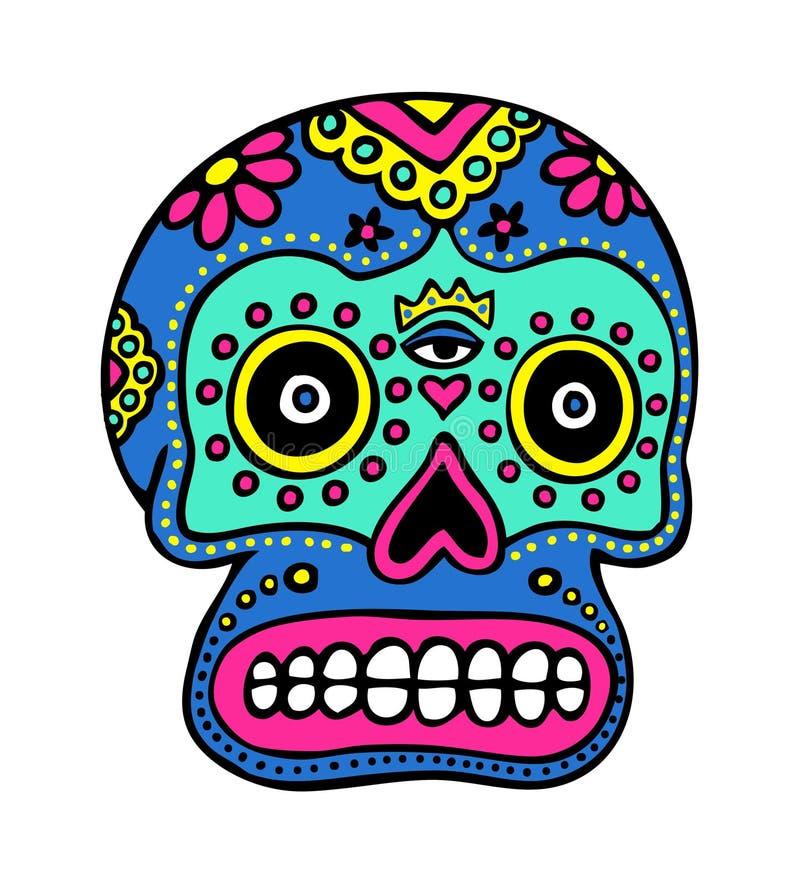 艺术墨西哥头骨 皇族释放例证