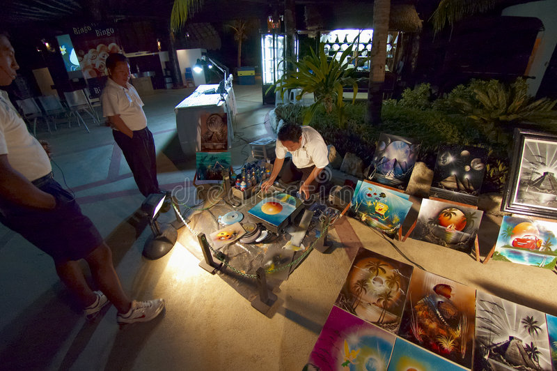 艺术夜间销售额 库存图片