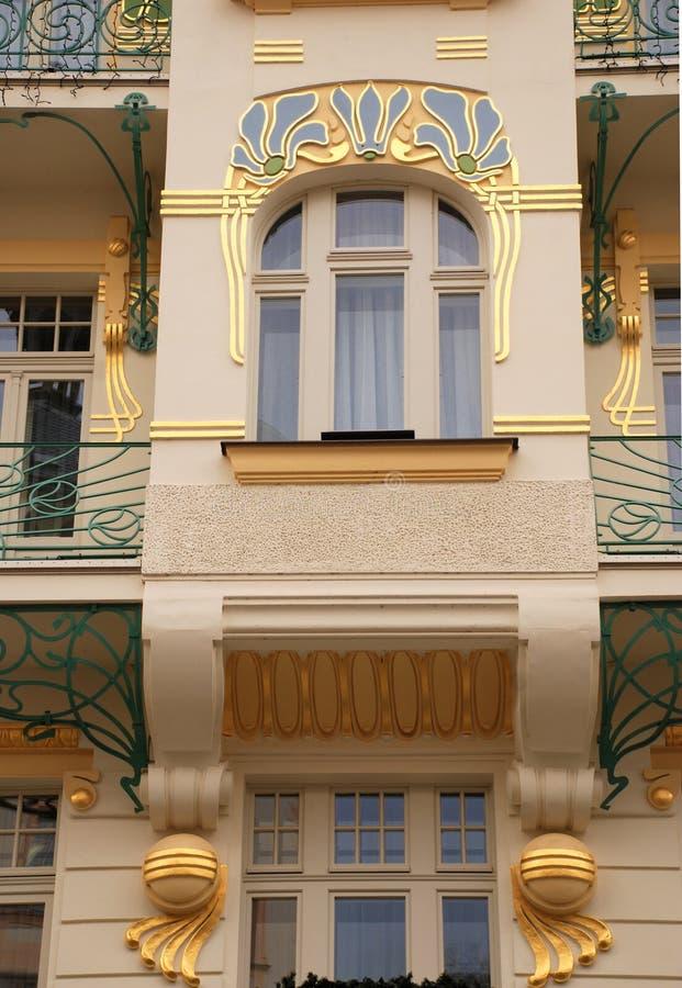 艺术大厦deco装饰布拉格样式 库存图片