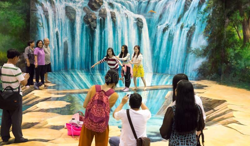 艺术天堂博物馆在芭达亚,泰国 免版税库存照片