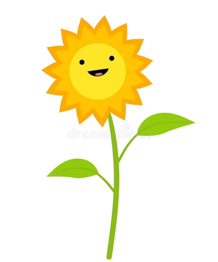艺术夹子微笑的向日葵 库存例证