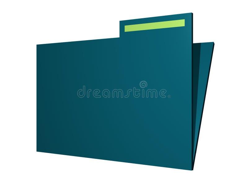 艺术夹子文件夹查出的无格式简单 向量例证