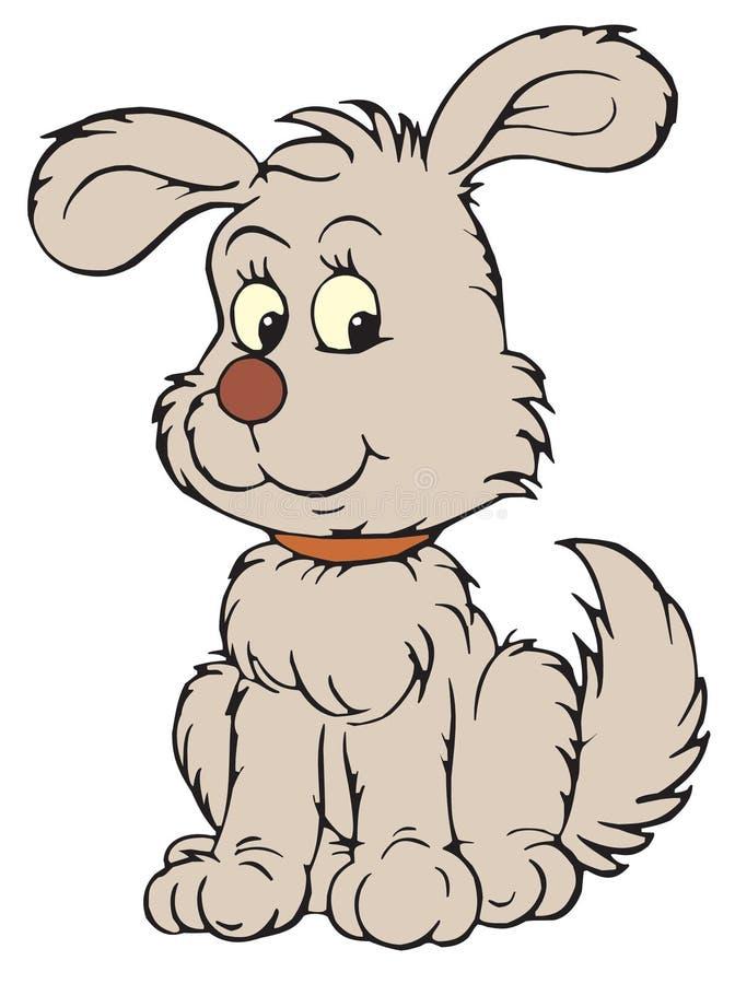 艺术夹子灰色小狗向量 向量例证