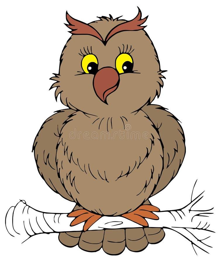 艺术夹子猫头鹰向量 皇族释放例证