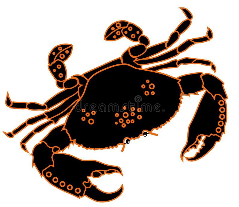 艺术夹子螃蟹向量 库存例证